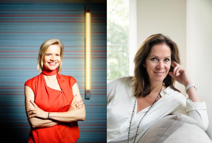 Heleen Dura-Van Oord en Annemarie van Gaal (r).