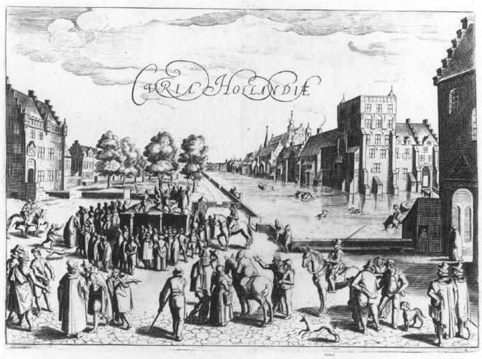 Groene Zoodje met veel kijkers naar executie in 16e eeuw.