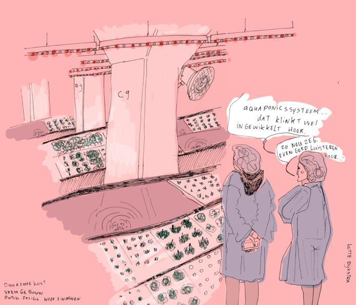 Lotte Dijkstra van Drawing the Times tekende deze Duurzame kost