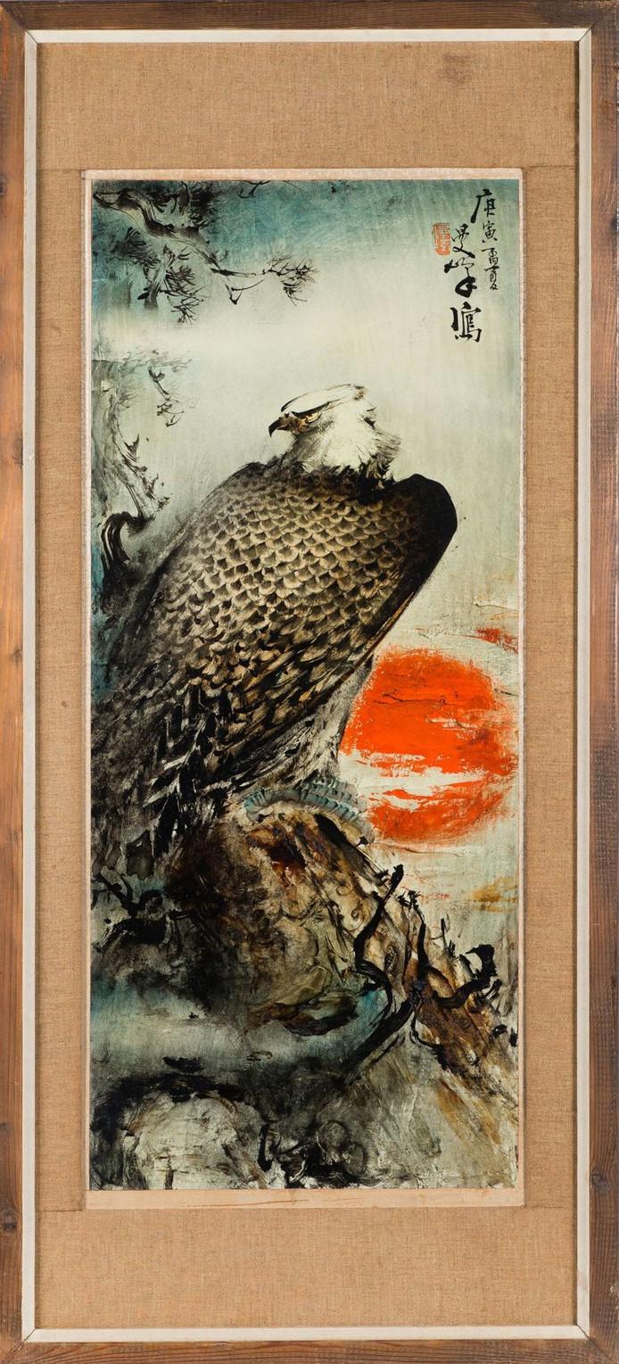 Het schilderij 'Awakening eagle' van Lee Man Fong bracht 900.000 euro op.