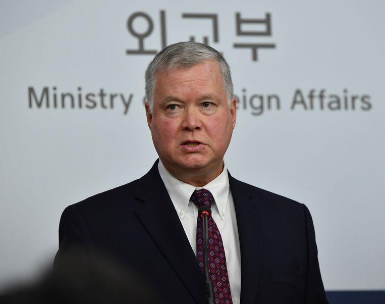 De Amerikaanse speciale afgezant voor Noord-Korea Stephen Biegun.  Beeld EPA
