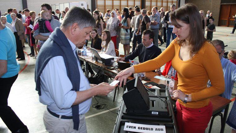 Jo Vandeurzen stemt in Genk.