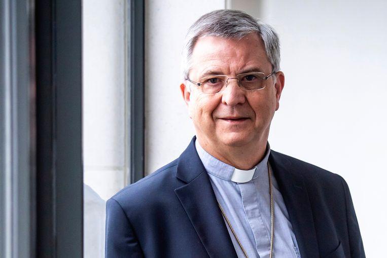 Bisschop Johan Bonny: 'De actualiteit en het passieverhaal dichter bij elkaar brengen, dat is eigenlijk wat een goede preek doet.' Beeld Photo News