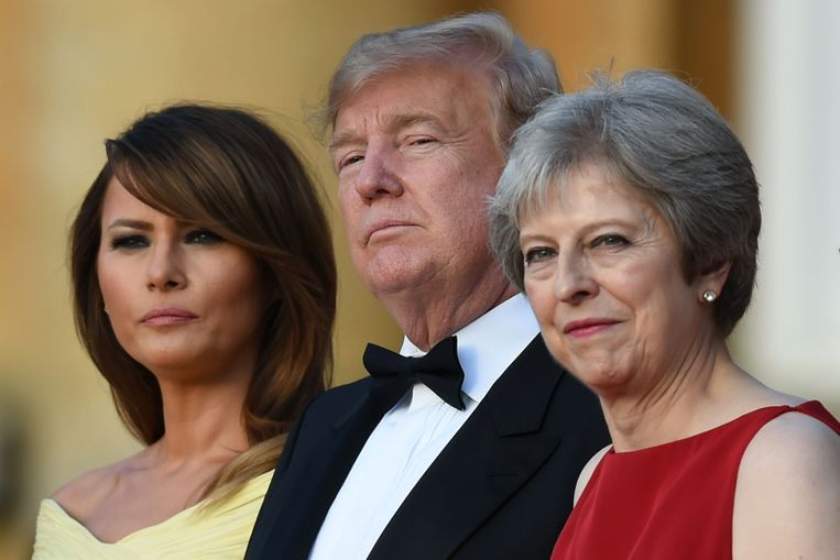 Trump is op bezoek in Groot-Brittannië.   Beeld AFP