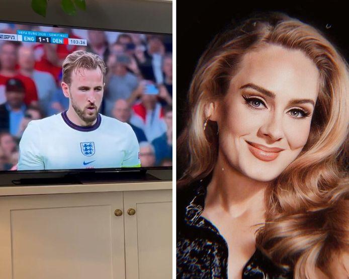La chanteuse Adele explose de joie lors du penalty décisif de Harry Kane à l'Euro 2020.