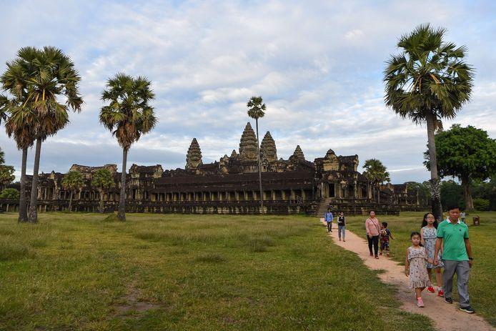 Het Cambodjaanse tempelcomplex van Angkor Wat