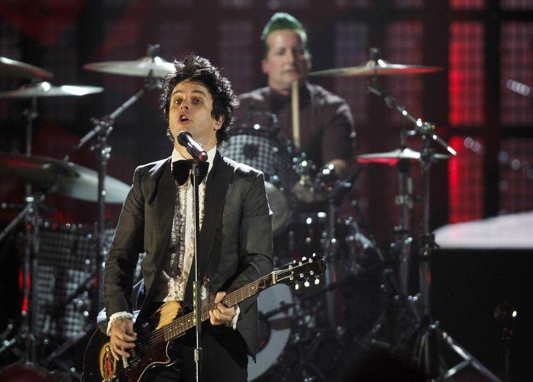 Billie Armstrong en drummer Tre Cool van Green Day.