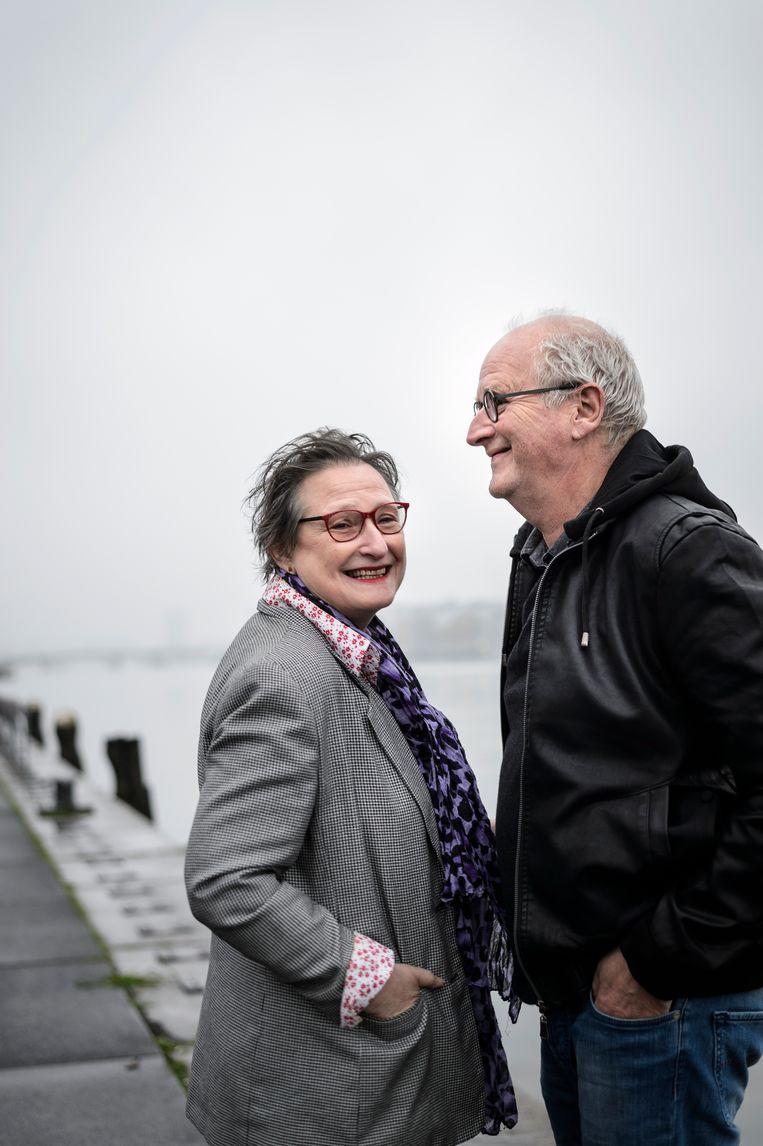 Wanda Reisel en Herman Koch in Amsterdam, 2017. Beeld Kees van de Veen