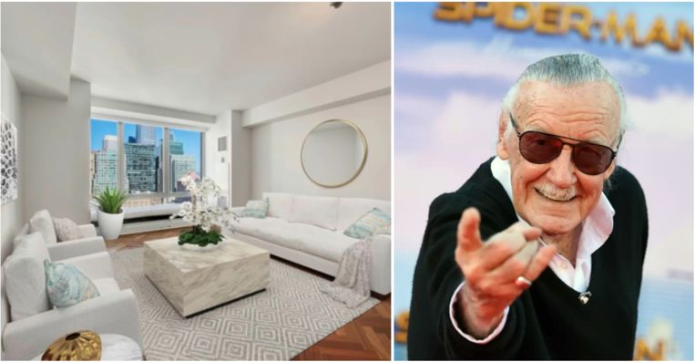 Het appartement van Stan Lee staat te koop.