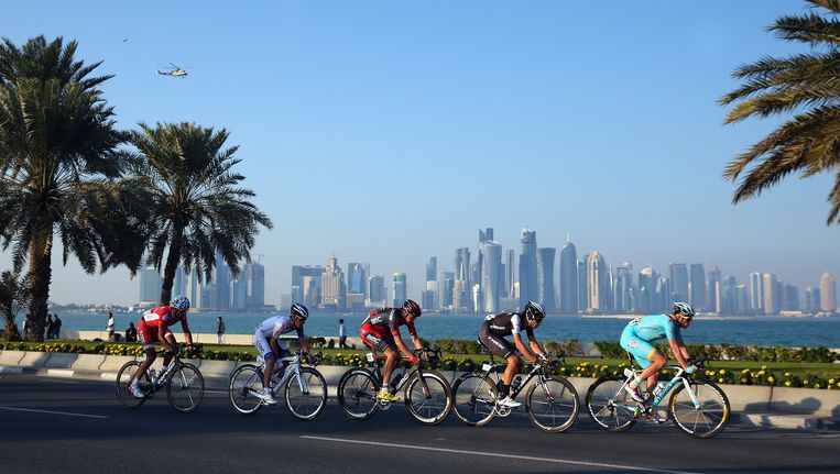 De wielersport in het Midden-Oosten wint steeds meer aan populariteit en dat vertolkt zich ook in meer wedstrijden. Beeld GETTY