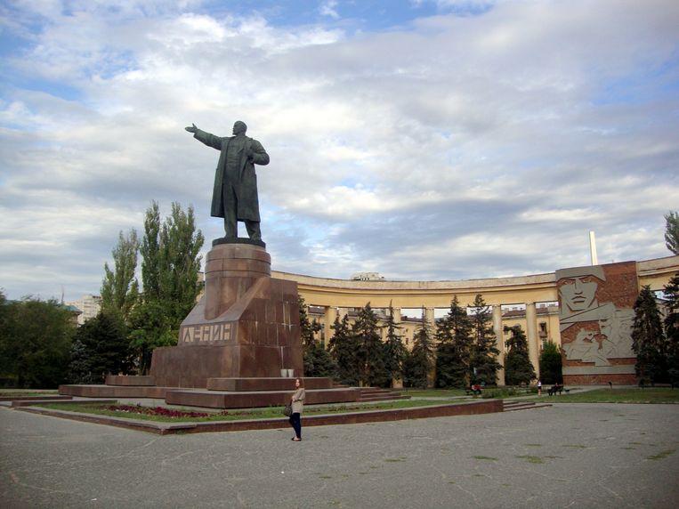 De Lenincultus tiert welig in Rusland, zoals hier in Volgograd.  Beeld Tom Peeters