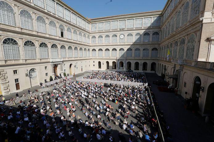 Wekelijkse audiëntie in het Vaticaan.