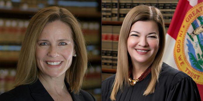 Amy Coney Barrett et Barbara Lagoa, les deux favorites pour remplacer Ruth Bader Ginsburg à la Cour suprême.