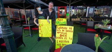 Kroegbaas maakt parkje van zijn terras in Kampen: 'De lol is er wel af'