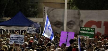 Duizenden Israëli's de straat op tegen immuniteit Netanyahu