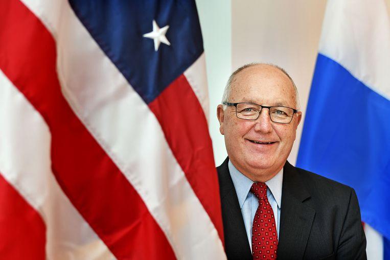 Pete Hoekstra, ambassadeur Verenigde Staten. Hij ontving de Taiwanese vertegenwoordiger Chen op de ambassade.  Beeld Guus Dubbelman / de Volkskrant