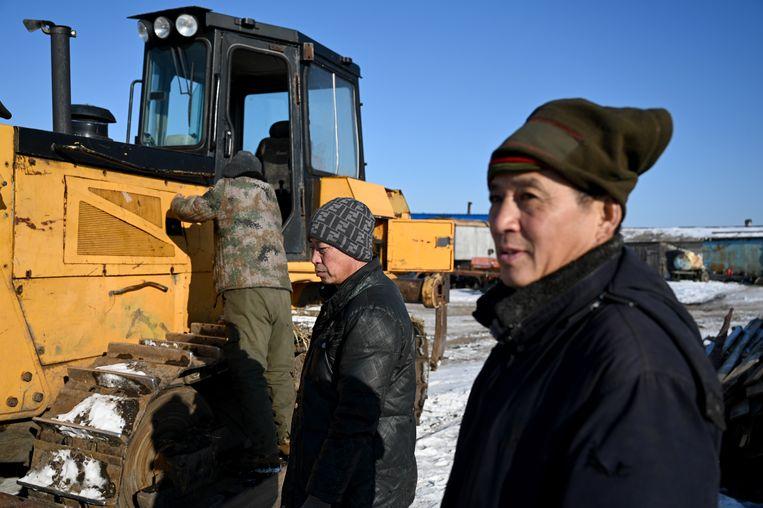 Chinezen vallen op door nieuwe machines.  Beeld null