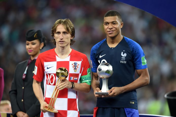 Luka Modric en Kylian Mbappé werden gisteren verkozen tot beste speler en grootste talent van het WK 2018.