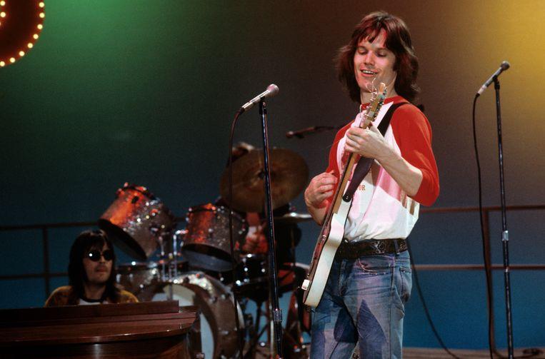 In 1974. ''De broer van' zijn volstaat niet om in het voorprogramma van de Stones te spelen. Nu, ik zou het ook niet willen. Ik gruw van stadions.' Beeld Disney General Entertainment Con