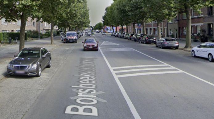 De Borsbeeksesteenweg in Deurne.