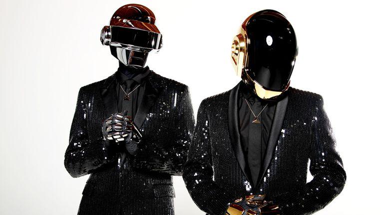 Thomas Bangalter (l) en Guy-Manuel de Homem-Christo van Daft Punk Beeld AP