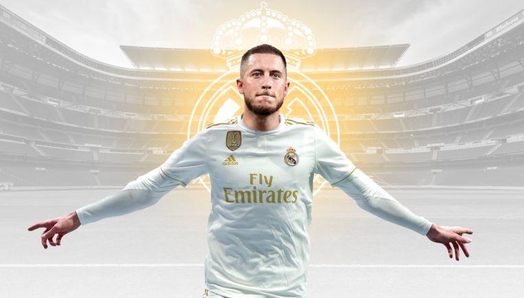 Het is officieel: Real Madrid kondigt komst Eden Hazard aan.