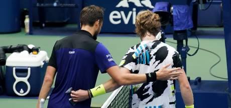 Medvedev zonder setverlies naar halve finale US Open