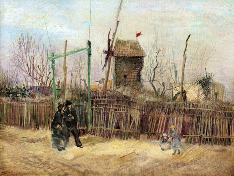 'Scène de rue à Montmartre', Vincent van Gogh, 1887. Beeld