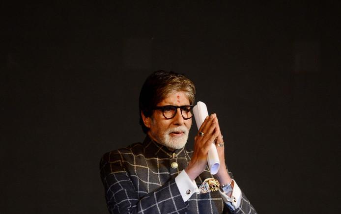 Amitabh Bachchan, eerder deze maand tijdens het Film Festival in Kolkata.