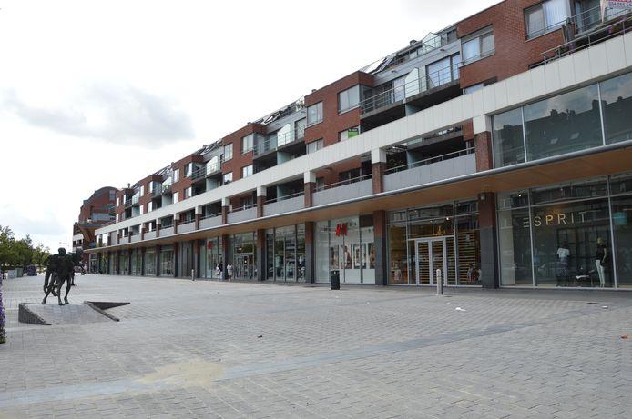 Het Shopping Center Ninia in de Centrumlaan in Ninove.