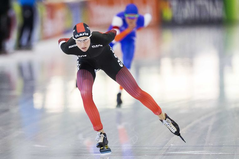 Carien Kleibeuker schaatst voor Yvonne Nauta. Beeld anp