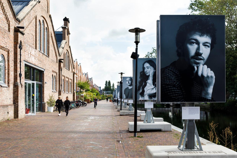 Fotoproject 'Tijdelijk Monument', tot 19 oktober te zien op de Oranje-Vrijstaatkade in Amsterdam.
