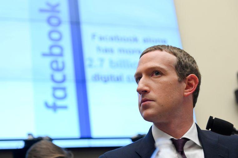 Facebookbaas Mark Zuckerberg. Beeld REUTERS