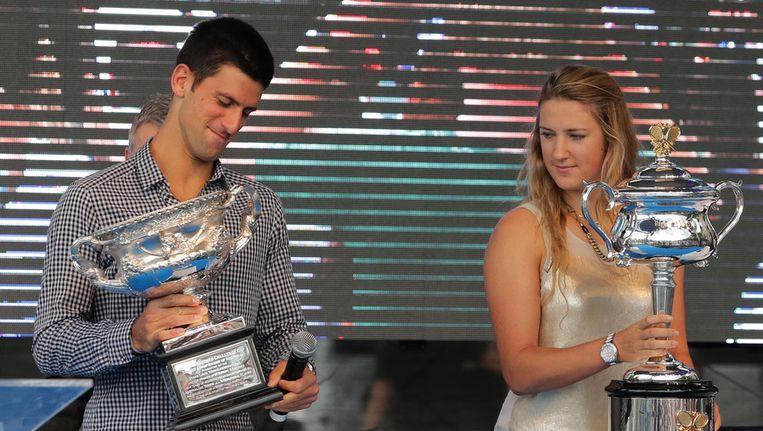 Djokovic verdedigt zijn titel bij de mannen. Beeld AP
