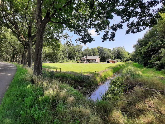 Landschap ten zuidoosten van de Hultenseweg, nabij het Wijckerbos. De weg is de noordgrens van het 'Werklandschap Wijkevoort'.