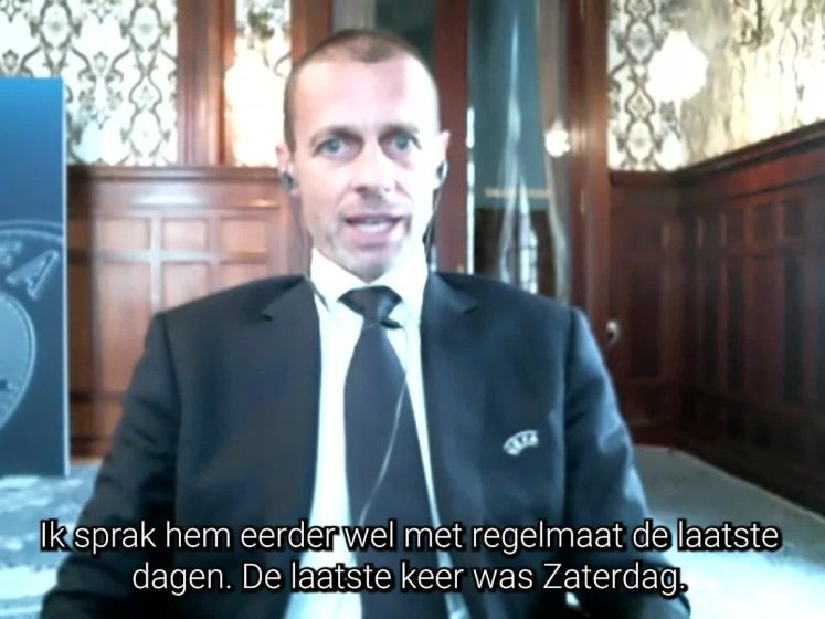 UEFA-voorzitter Ceferin over Super League: 'Dit is verraad'