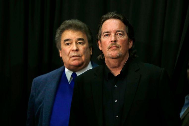 Hillary Clintons broers Tony Rodham (rechts) en Hugh Rodham (links). Tony overleed vrijdag op 54-jarige leeftijd.