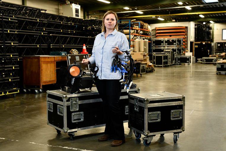 Katrien Vermeire (36), zelf eigenaar van een eventbedrijf en woordvoerder van Sound of Silence. Beeld Florian Van Eenoo Photo News