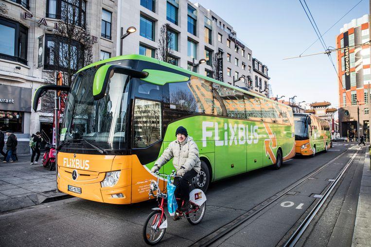 Vorig jaar vervoerde FlixBus drie miljoen passagiers. Van, naar en binnen België. Beeld Aurélie Geurts