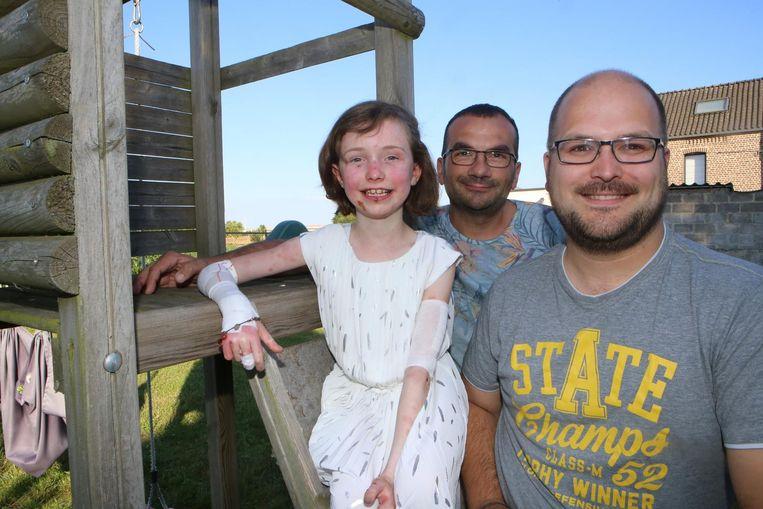 Stephan Porton, Kevin Kinnaer en de kleine Amelie.