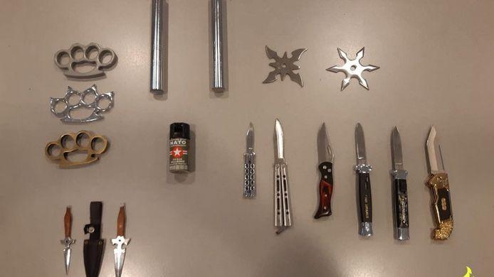 De ingeleverde wapens van de inleveractie #NoShank.