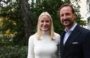 Kroonprinses Mette-Marit en kroonprins Haakon.