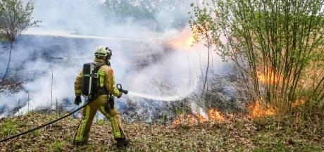 Groot stuk riet in brand aan Piet van Bokhovenpad in Helmond