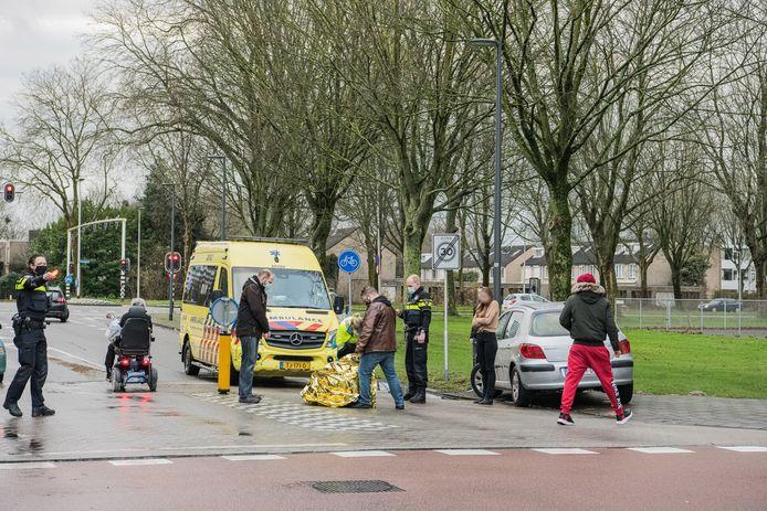 Aanrijding fietsster in Tilburg.