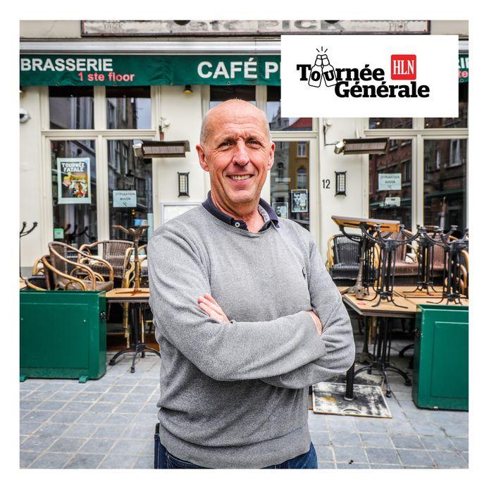 Philip Vandenabeele van café Pick op de Eiermarkt.
