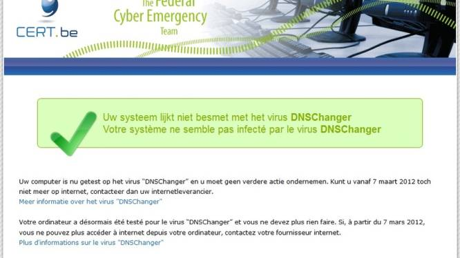 Meer dan duizend infecties DNS changer in België