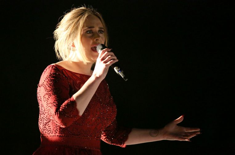 Adele trad op tijdens de show van de Grammy Awards. Beeld Matt Sayles/Invision/AP