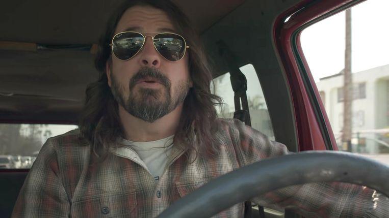 Dave Grohl, frontman van de Foo Fighters, regisseerde de documentaire. Beeld Foo Fighters