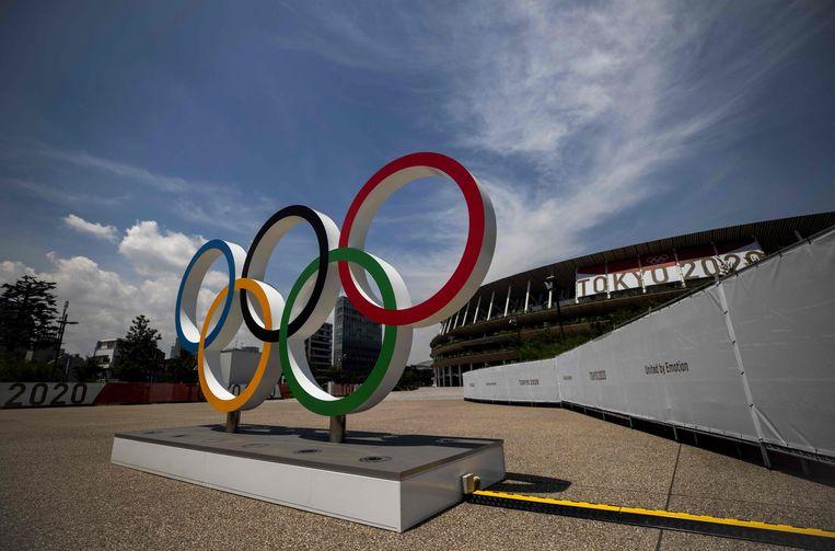 Het Olympisch Stadion in Tokio. Beeld AFP