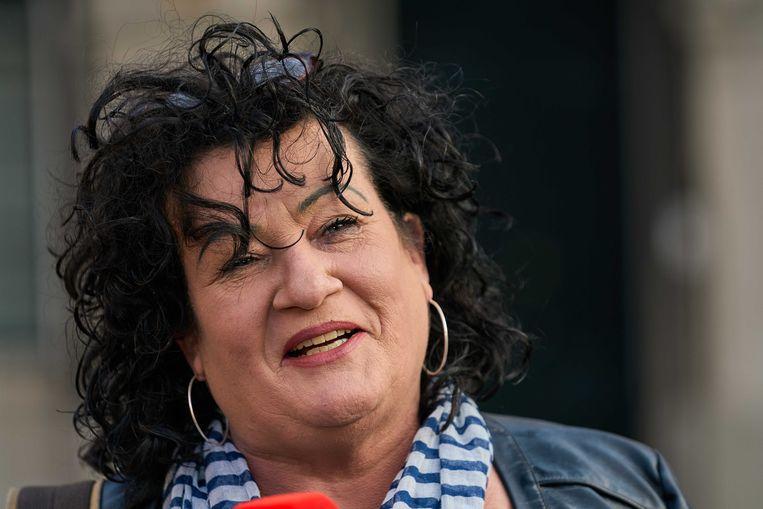 Caroline van der Plas (BBB) verlaat de Tweede Kamer na afloop van haar gesprek met verkenners Annemarie Jorritsma en Kajsa Ollongren. Beeld ANP